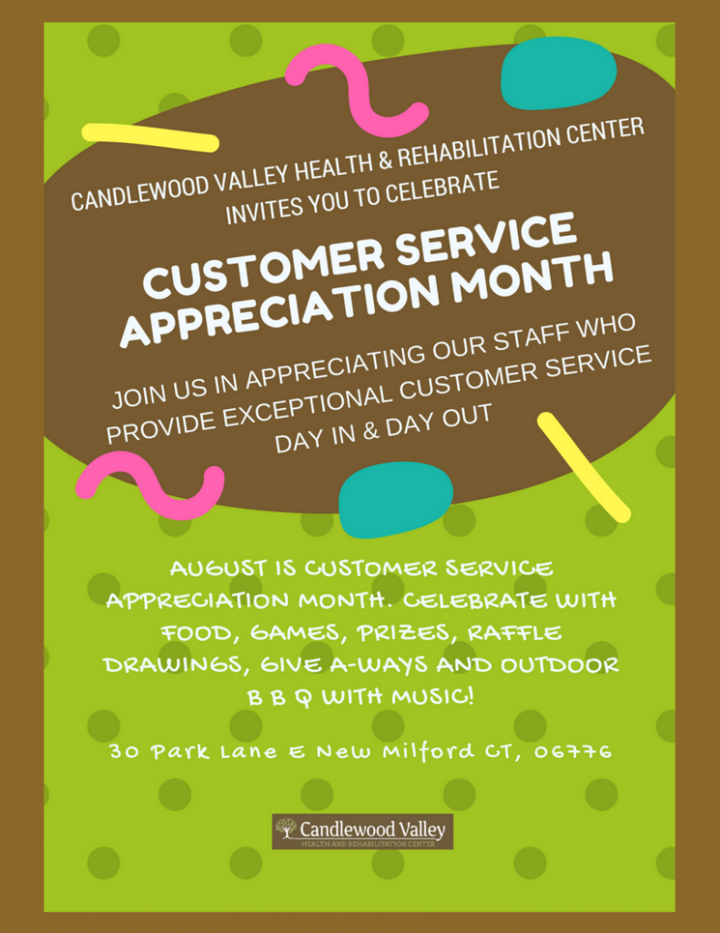 August is Customer Service Month - 730.6KB