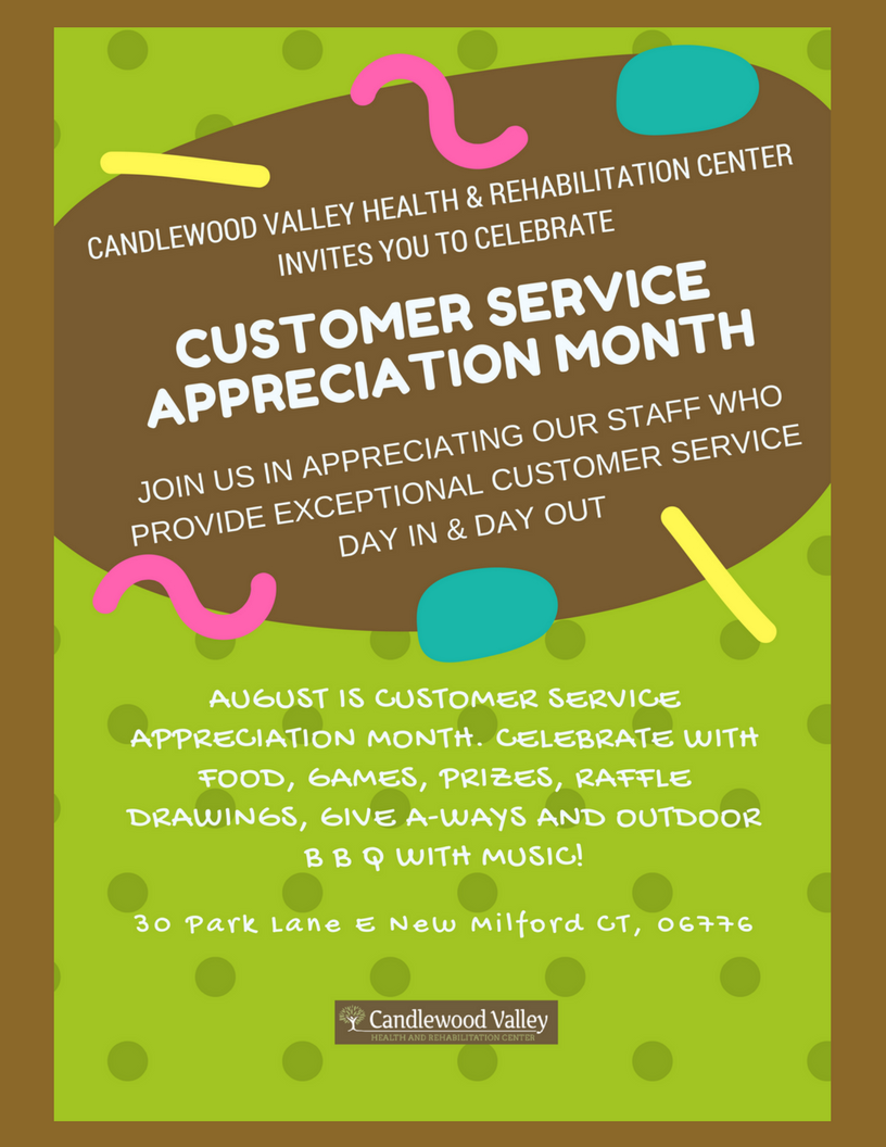 CUSTOMER SERVICE APPRECIATION SIGN