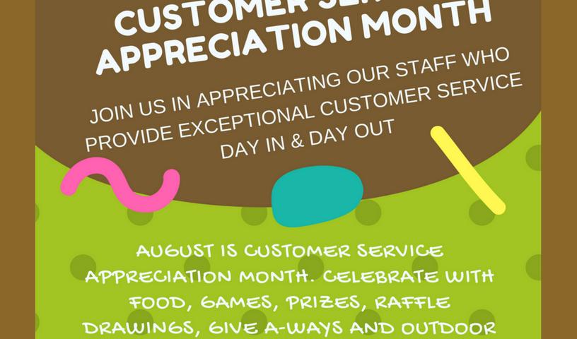 CUSTOMER SERVICE APPRECIATION SIGN
